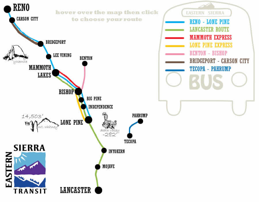 Routes & Schedule – Eastern Sierra Transit Authority on cincinnati public transportation map, santa clara public transportation map, boston public transportation map, florida public transportation map,