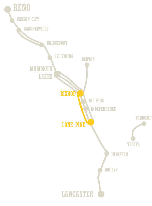 Lone Pine to Bishop route