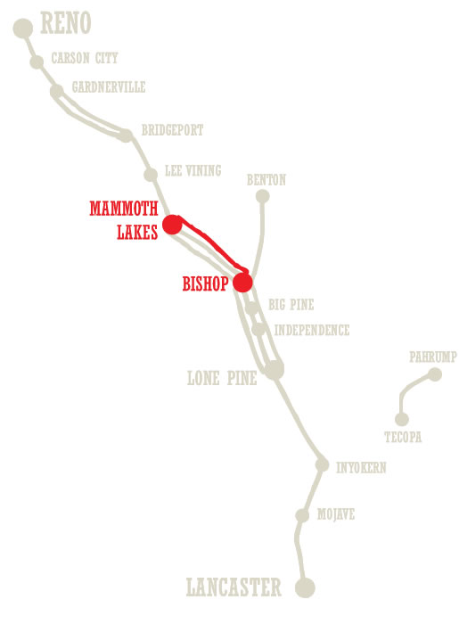Mammoth Express Bus Route