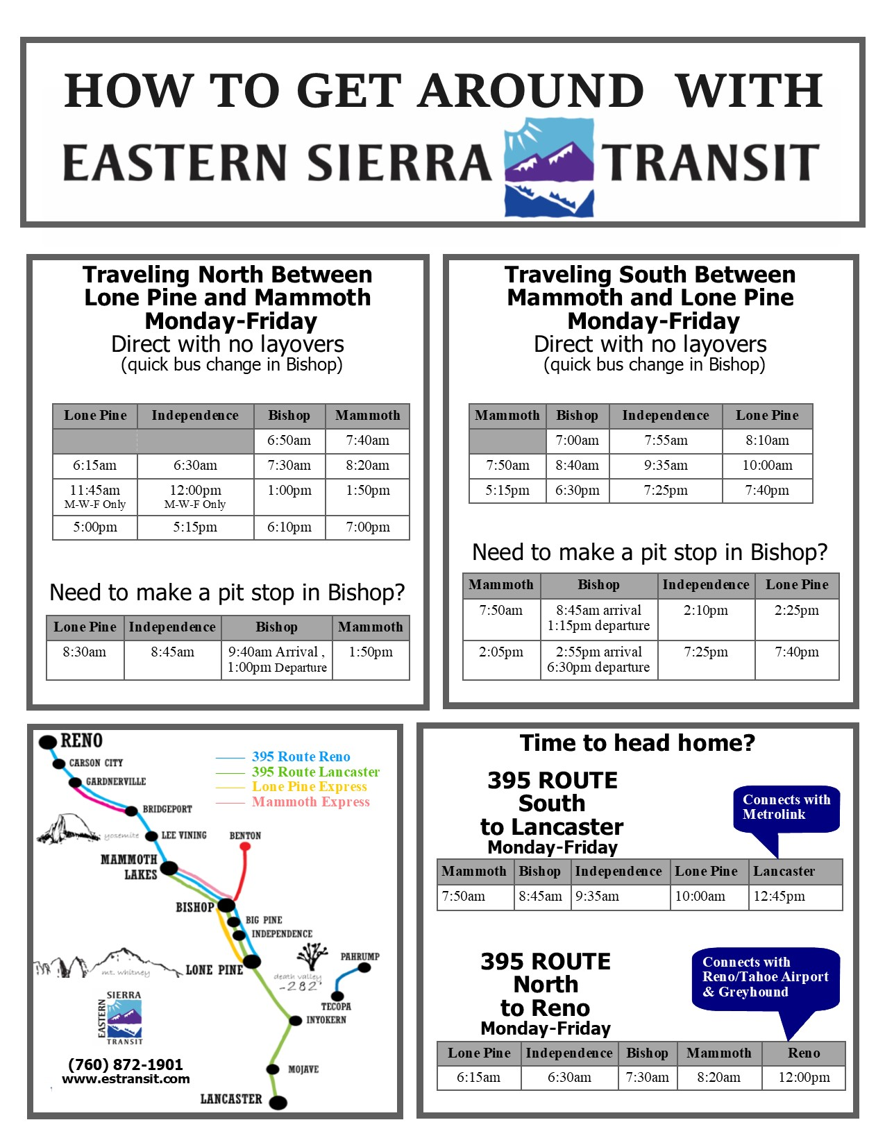 Connections for Thru-Hikers – Eastern Sierra Transit Authority