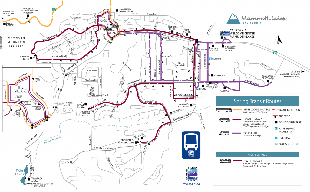 Spring Transit Routes Map