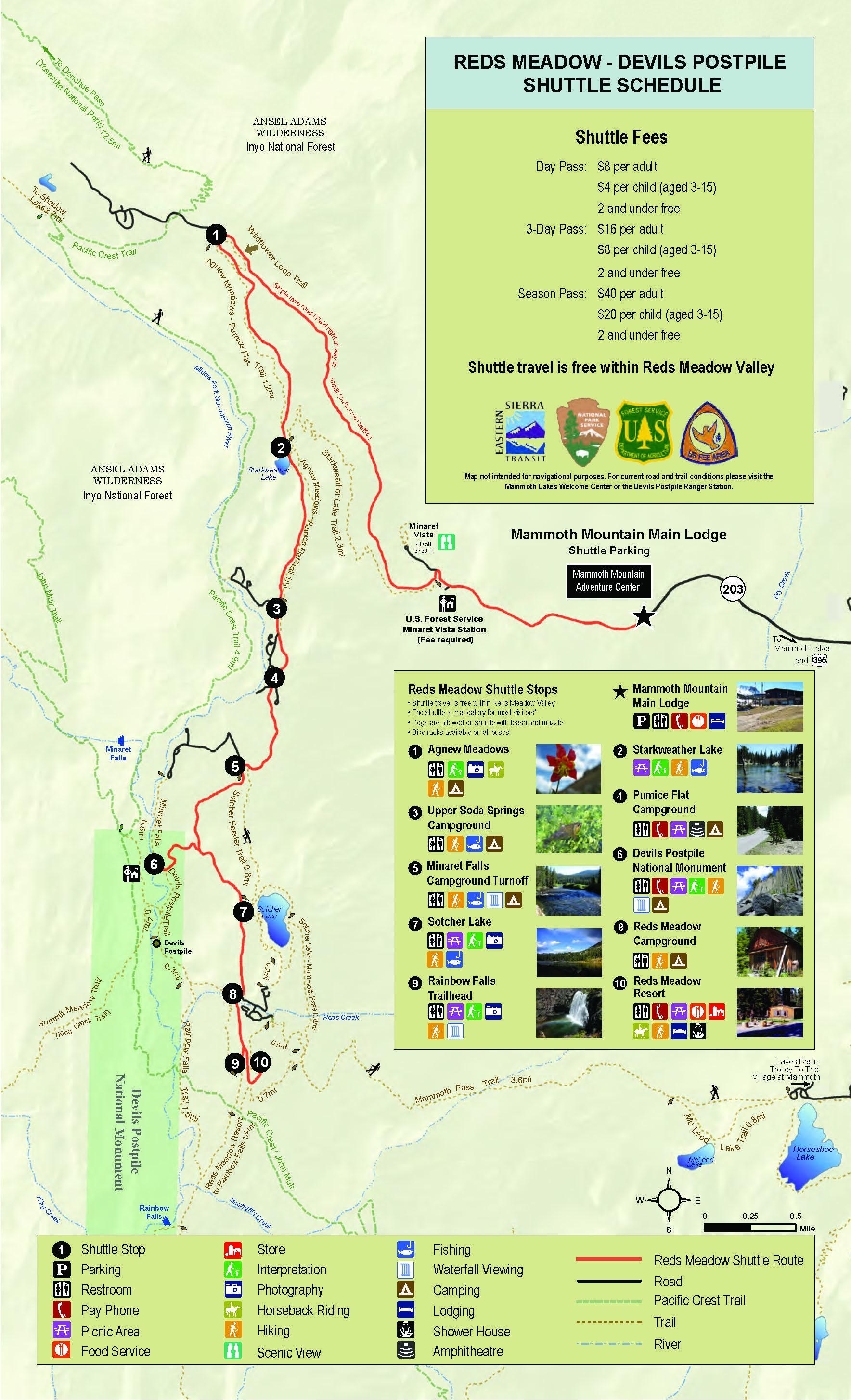 Reds Meadow Shuttle Eastern Sierra Transit Authority